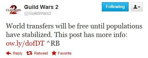 Guild Wars 2: GW2: свободные трансферы