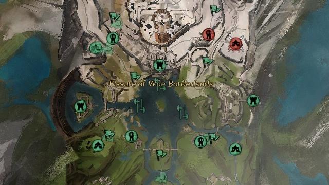 Guild Wars 2: GW2: Вы никогда не обращали внимания на то, что каждая из трех подводнях деревень находится ровно напротив одного из трех самых мощных укреплений на карте?