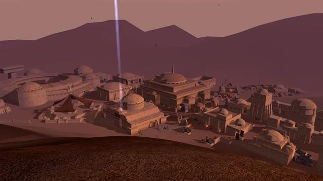 Star Wars Galaxies: SWG: Тогда я еще не знал, что это один из самых крупных городов Татуина.