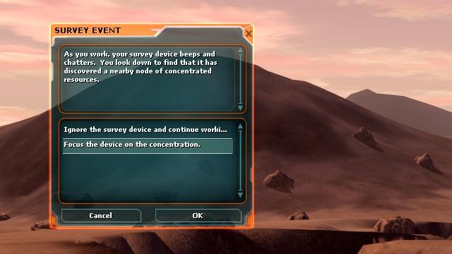 Star Wars Galaxies: SWG: И здесь я впервые увидел сообщение на экране