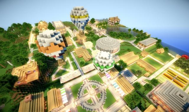 Кукловоды: Minecraft: Сервер журнала PCGamer -- настоящий парк чудес