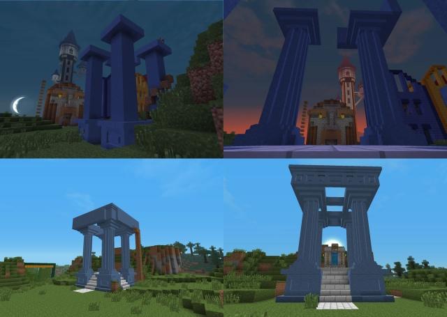 Minecraft: Для такого важного объекта мы решили построить специальную огранку, используя технологию little big block