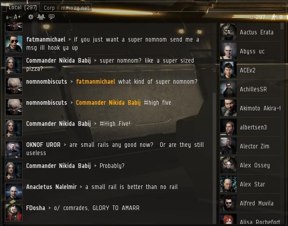 EVE Online: Правильный чат