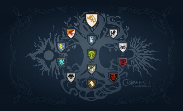 Crowfall: Дуэль, модель и ковер с гербами