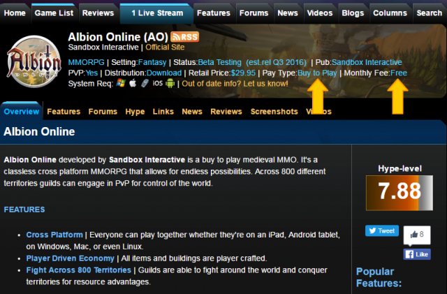 Albion Online: Блуждание в трех соснах монетизации