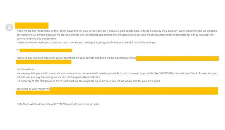 Холодный Кофе: Письмо представителя DDOS-сервиса в Sandbox Interactive