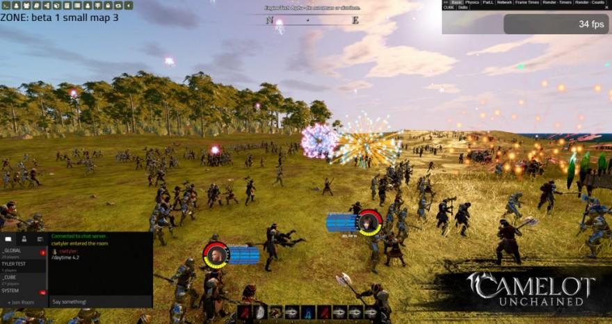 Camelot Unchained: Производительность в массовых сражениях