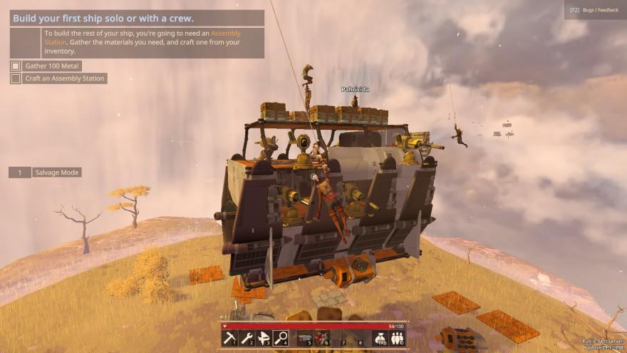Worlds Adrift: Update 29: Покраска кораблей, перегрев двигателей и шифры