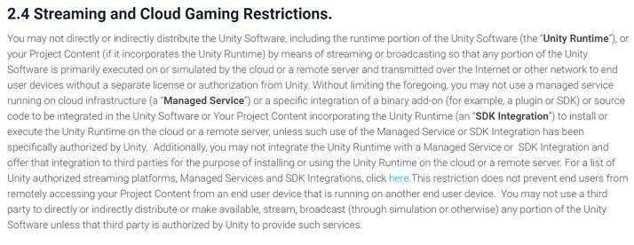 MMO-индустрия: Unity запретили использовать SpatialOS играм на своём движке?