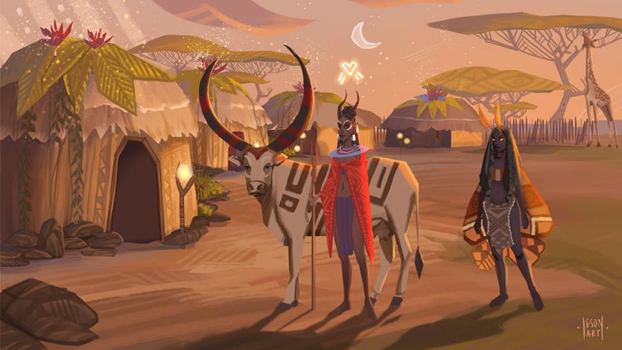The Wagadu Chronicles: Афро-фентези, племена, ритуалы, соревнование за тотемы и никакого PvP