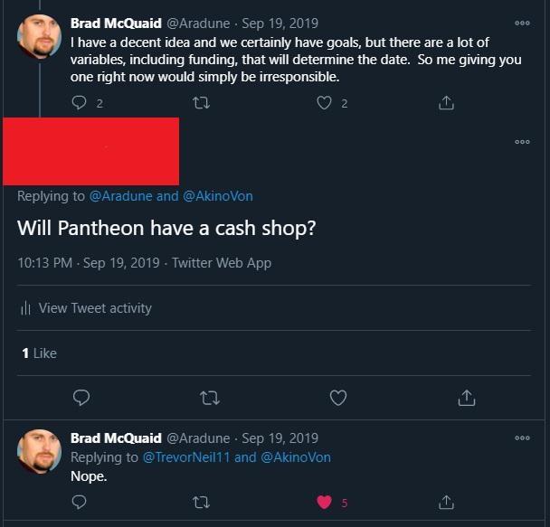 Pantheon: Брэд был против: история с возможным игровым магазином получила продолжение