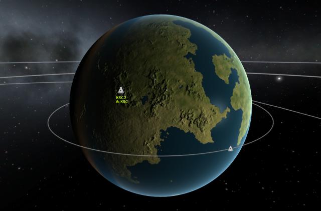 Kerbal Space Program: KSC-2 на карте Кербина