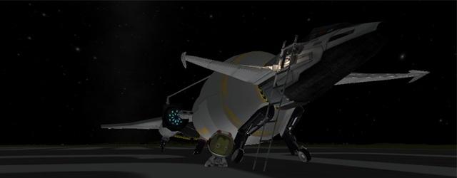 Kerbal Space Program: Пилот готовится к выполнению задания