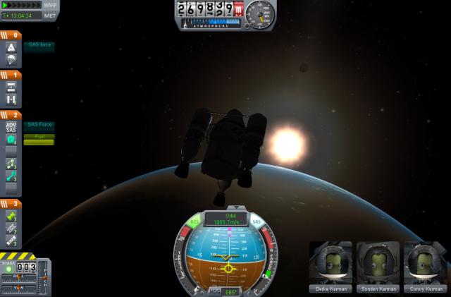 Kerbal Space Program: Увеличенный интерфейс в версии 0.17.1