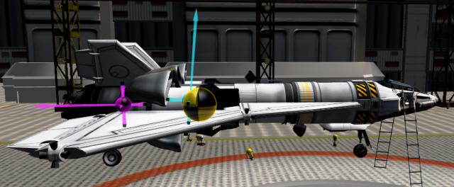 Kerbal Space Program: Отображение тяги, подъёмной силы и центра тяжести