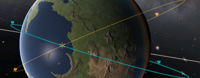 Kerbal Space Program: Поворот плоскости орбиты импульсом по нормали