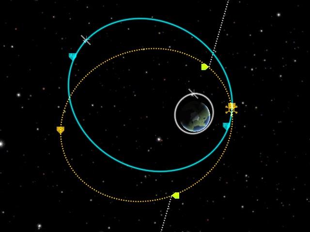 Kerbal Space Program: Импульс по радиальной оси разворачивает орбиту в её плоскости