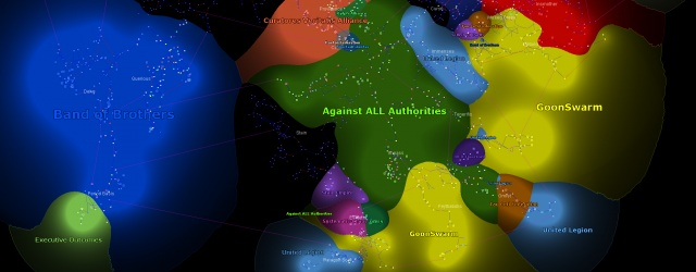 EVE-online: Карта влияния в Eve Online начала 2009