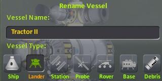 Kerbal Space Program: Переименование корабля