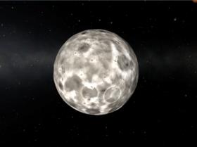 Kerbal Space Program: Tylo, одна из каменистых лун Jool. Вид с орбиты