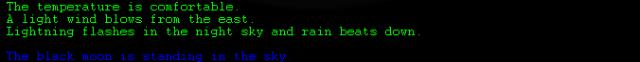 Текстовые игры: Блог им. arykalin: Легкий ветерок дует с востока, хлещет проливной дождь.