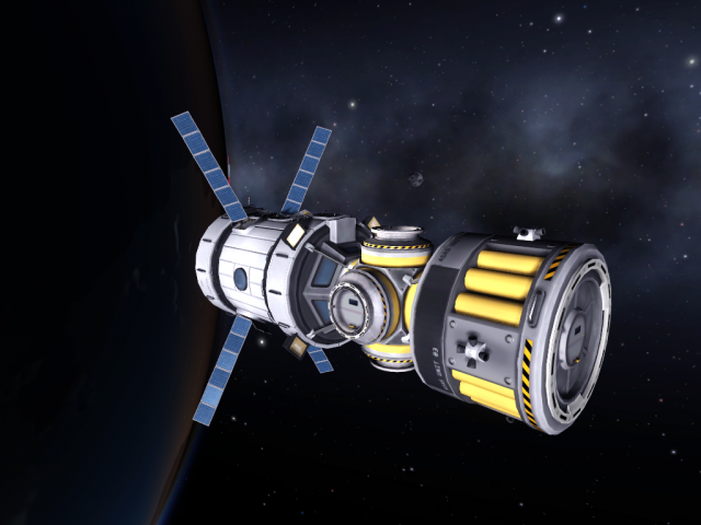 Kerbal Space Program: Мой эксперементальный дизайн ядра станции в 0.20