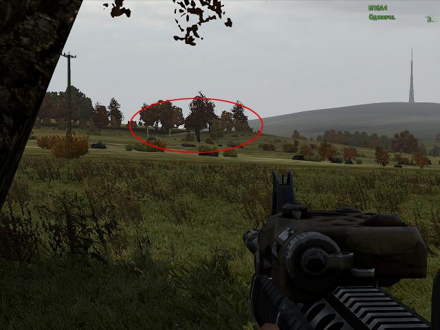 ARMA 2: Bump. Одна из оборонительных позиций противника