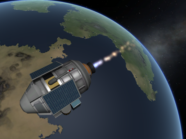 Kerbal Space Program: BPSP-1K deorbit burn