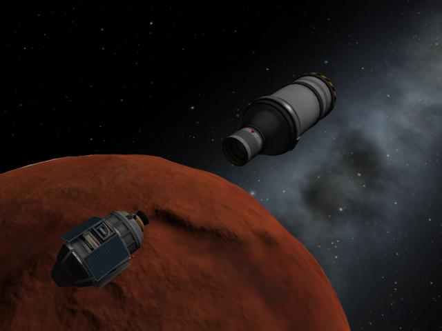 Kerbal Space Program: Зонд отделяется от верхней ступени