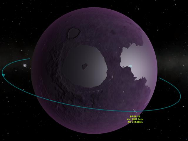 Kerbal Space Program: Ив, вид из режима карты