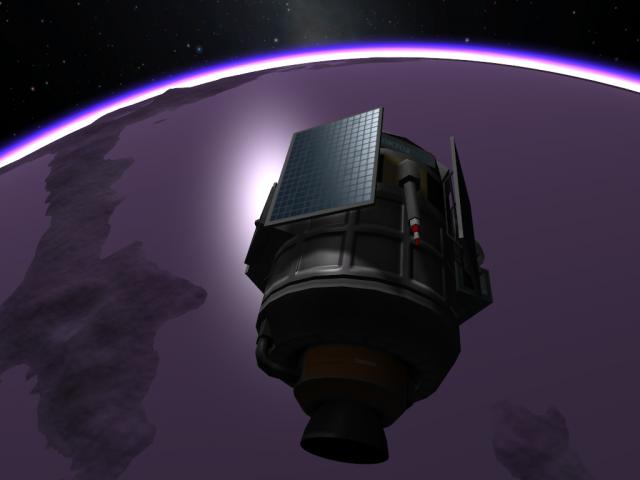 Kerbal Space Program: Начало спуска в атмосферу