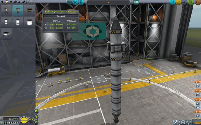 Kerbal Space Program: Одна из первых ракет, всего 11k