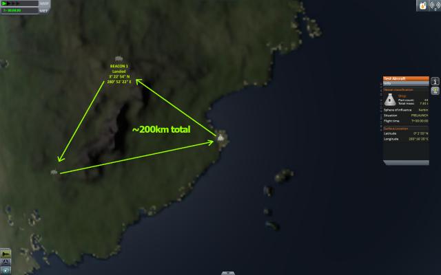 Kerbal Space Program: Challenge #3: Around the Mountains