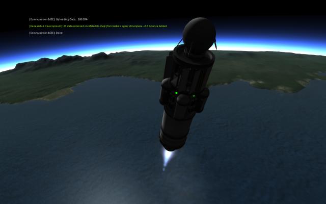 Kerbal Space Program: Отправка данных перед падением