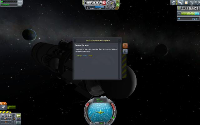 Kerbal Space Program: Один из параметров контракта выполнен