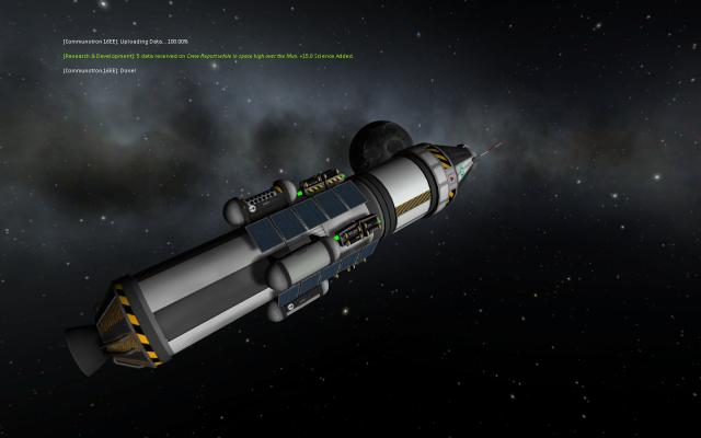 Kerbal Space Program: Вошли в зону притяжения Луны, полет нормальный