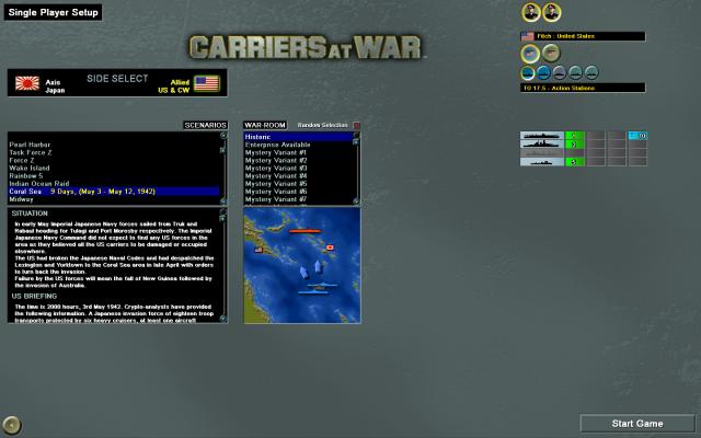 неММО: CAW - Экран выбора миссий