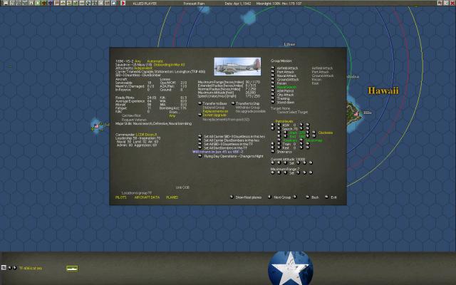 неММО: WITP AE - Настройки параметров авиагруппы