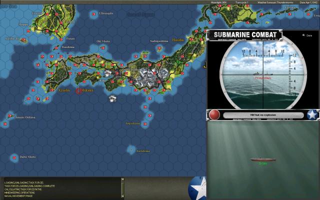 неММО: WITP AE - Атака американской субмарины на японский танкер