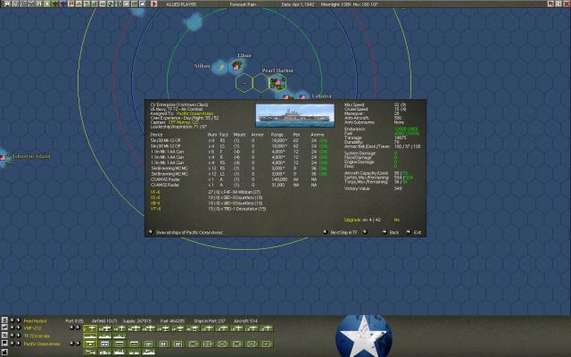 неММО: WITP AE - USS Enterprise stats