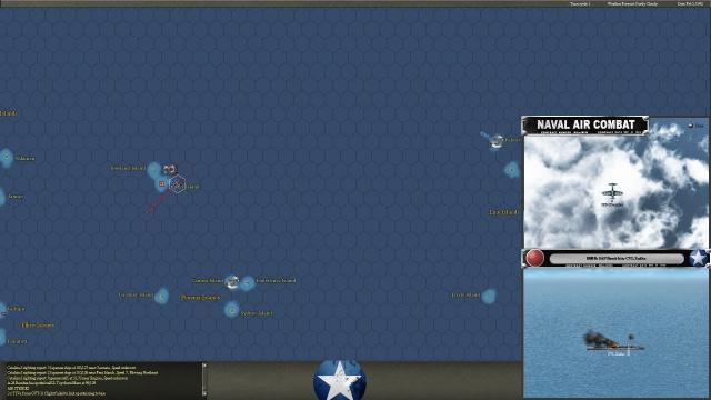 неММО: WITP AE - Пикирующие бомбардировщики атакуют легкий авианосец IJN