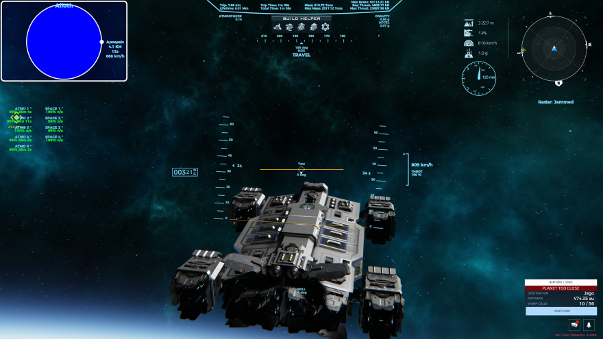 Dual Universe: Блог им. Jmur: Здесь уже установлены кастомные публичные прошивки для интерфейса пилотирования