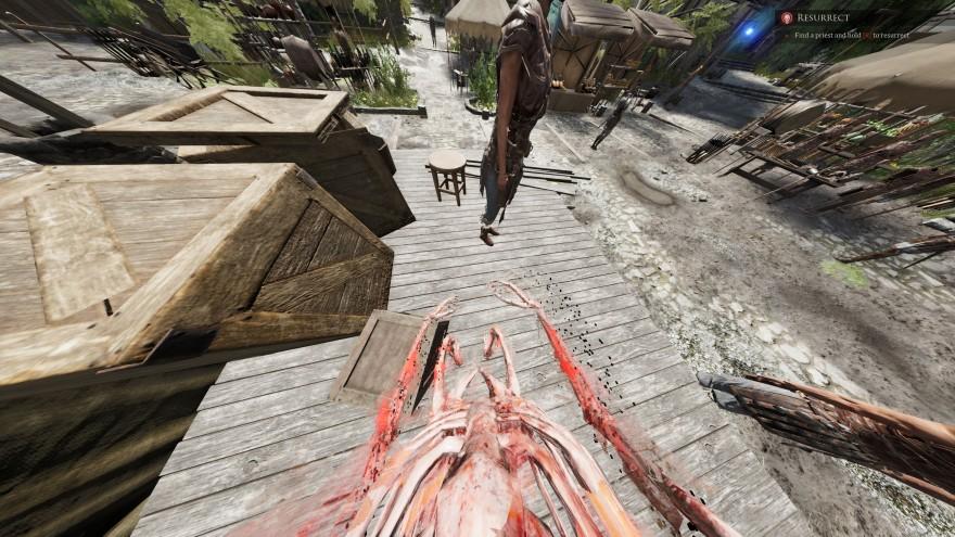 Mortal Online 2: А вот так выглядит воскрешение - скелет обрастающий плотью