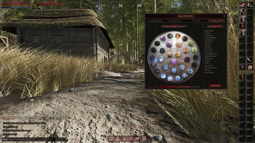 Mortal Online 2: А вот и таланты, есть из чего выбрать