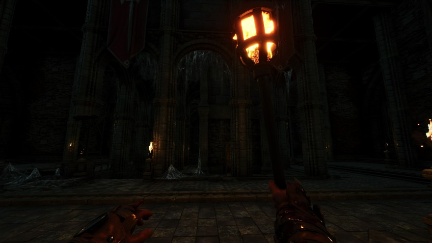 Mortal Online 2: Как и полагается в подземелье - темно и ничего не видно, пришлось достать факел