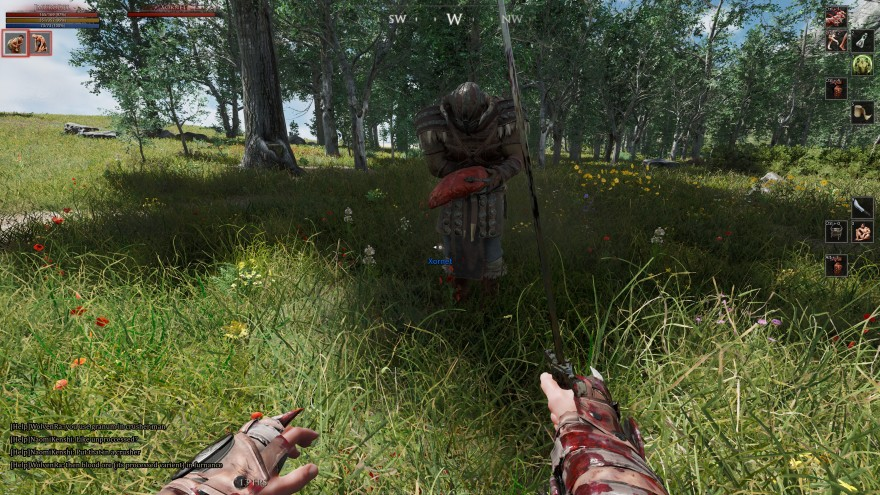 Mortal Online 2: Xornet режет мясо на бутерброд