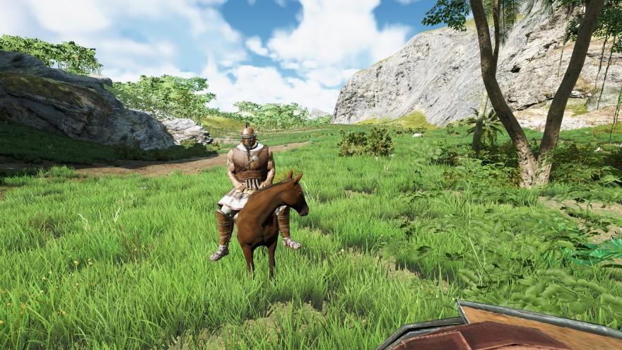 Mortal Online 2: Лошадка похожа на пони, когда на ней сидит такой здоровяк