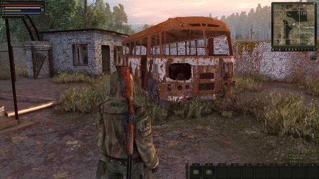 Блог им. Deenar: Ржавый автобус на территории заброшенного санатория.