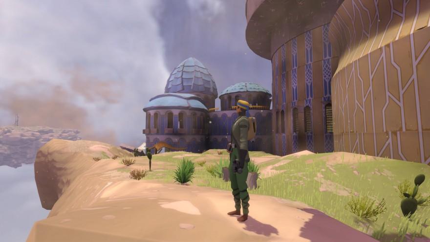 Worlds Adrift: Пустынный дракон, дворец и оазис