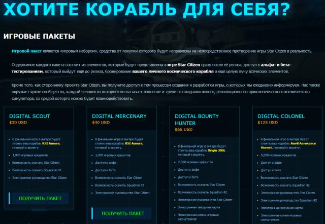 Неофициальный русский на официальном сайте Star Citizen